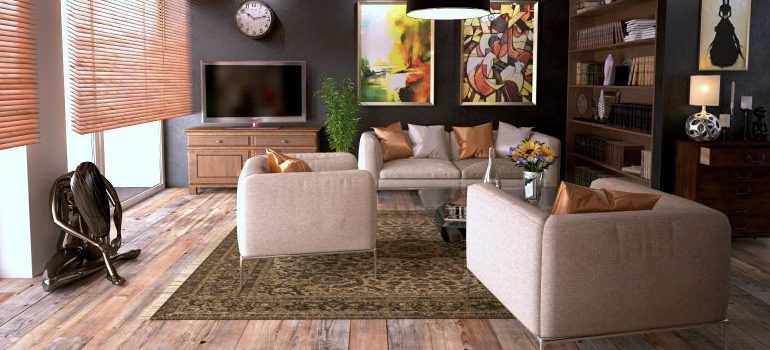 an easy way to relocate a living room - DC apartment movers