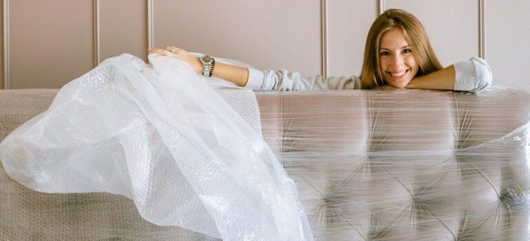 Woman choosing moving services VA