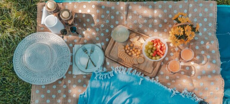 Picnic in a park