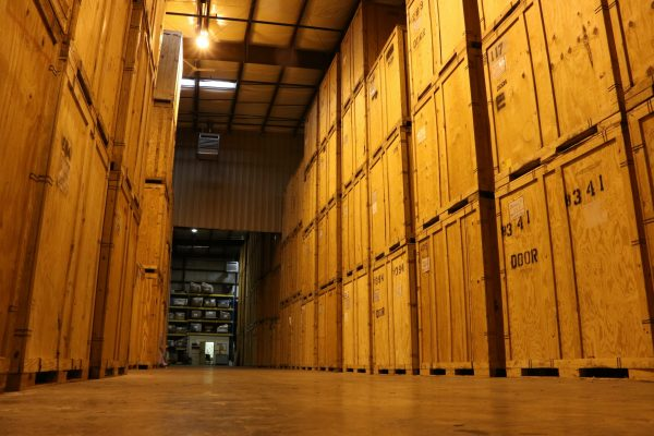 Moving company storage